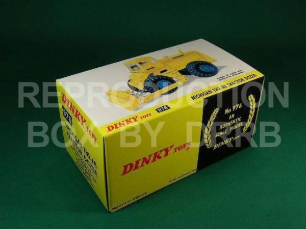 Dinky #976 Michigan 180-111 Tractor Dozer - Reproduction Box